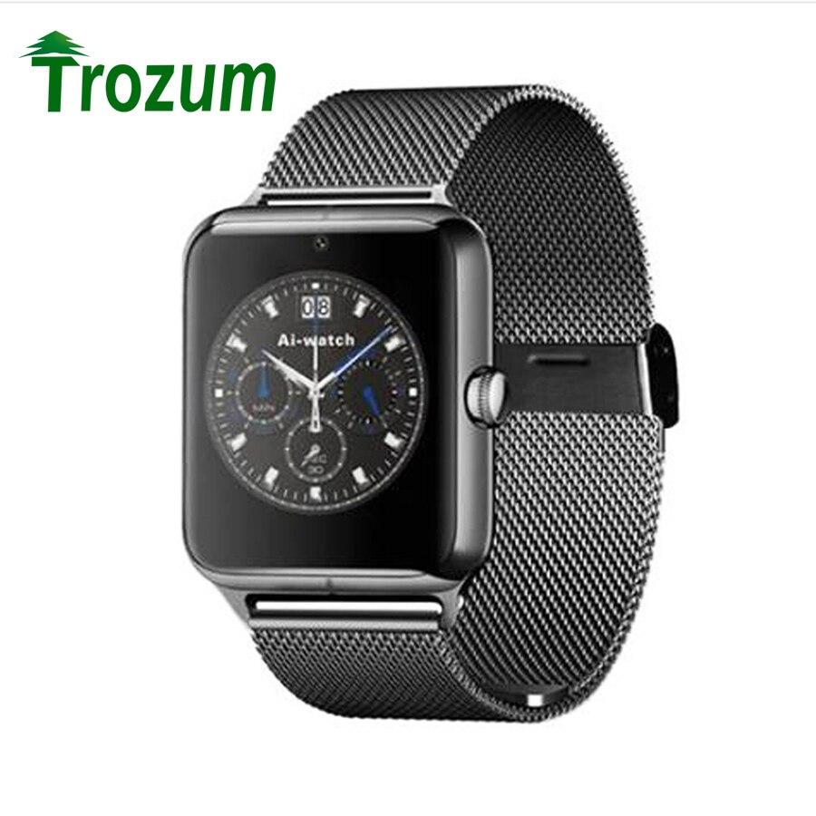Trozum smart watch lujo adulto muñeca bluetooth smartwatch z30 apoyo sim/tf tarj