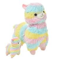 35 45cm Rainbow Alpaca Vicugna Pacos Plush Toy Japanese Soft Plush Baby Plush Stuffed Animals Alpaca