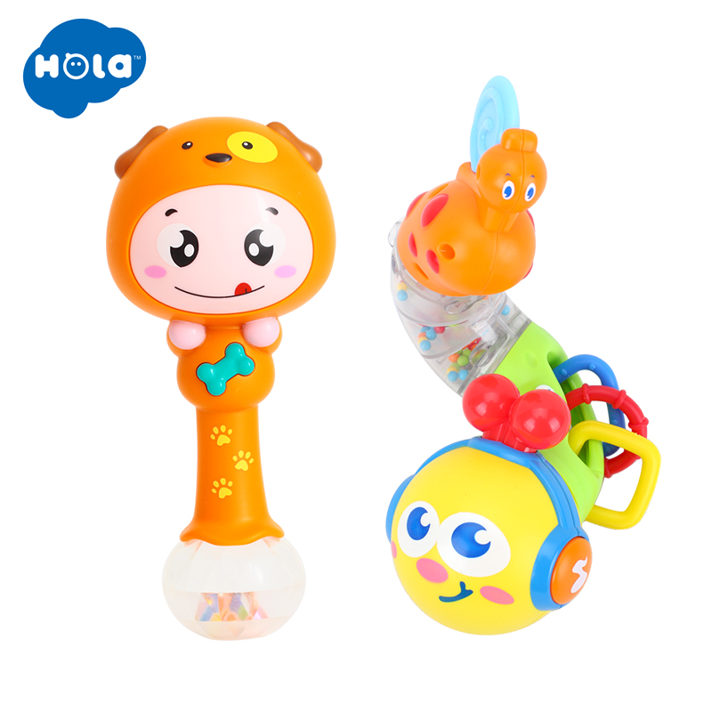 HOLA 917&3101 Baby Toys Early Education 6 Month + Olds Baby Musical Twisting Worm Rattle Toy For Children & Kids Boys And Girls