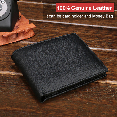 X.D.BOLO 2019 New Men Wallets Genuine Leather Purse Mens Money Bag Card Holder Wallet Man Leather Coin Pocket Wallet Male Islamabad