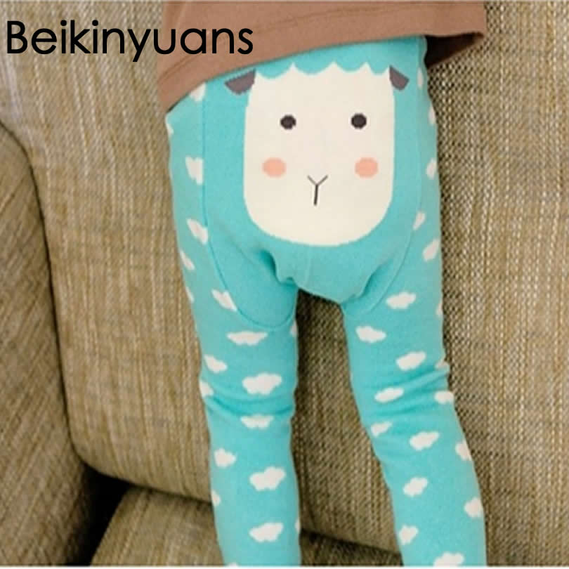 Bērnu cloting zīdaiņu legingi Bērni Kids pp Bikses Kokvilnas Toddler karikatūra Legging Bikses Warmer Knitting Leggings