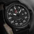 NAVIFORCE Marca Top de Luxo Relógio de Quartzo dos homens de Couro PU com Função de Data Moda Esporte Militar Relógios Homens relogio masculino