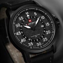 NAVIFORCE Top Brand Hombres de Lujo del Reloj de Cuarzo de Cuero de LA PU con Función de Fecha Del Deporte de Moda Militar Relojes Hombres relogio masculino