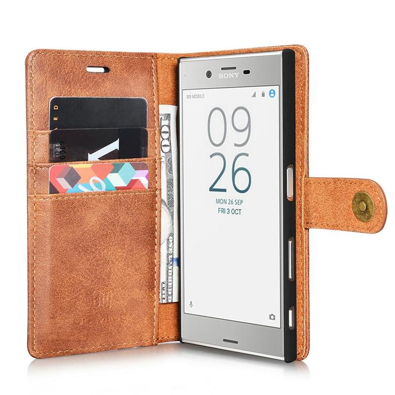 Кожаный бумажник чехол для Sony Xperia XZ XZS X Compact XZ1 Съемная откидная слот для карты чехол для iPhone X 6 6S 7 8 плюс 5 5S SE случае