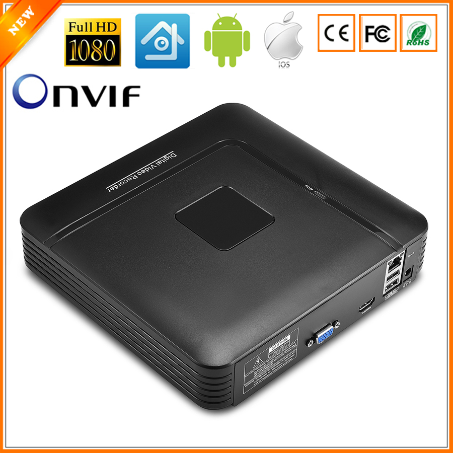 Newest Mini NVR Full HD  4 Channel 8 Channel Security Standalone CCTV NVR 1080P 4CH 8CH ONVIF 2.0 For IP Camera System 1080P арбалет архонт