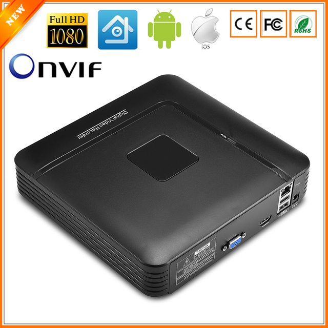 BESDER мини видеорегистратор Full HD 4 канала 8 канала CCTV NVR 1080 P 4CH 8CH ONVIF 2,0 для IP Камера Системы 1080 P с радиатора