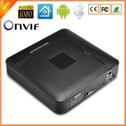 BESDER Mini NVR Full HD 1080 P Recorder 4 Canal Canal de Segurança CCTV ONVIF NVR 1080 P 4CH 8CH 8 2.0 Para O Sistema de Câmera IP 1080 P