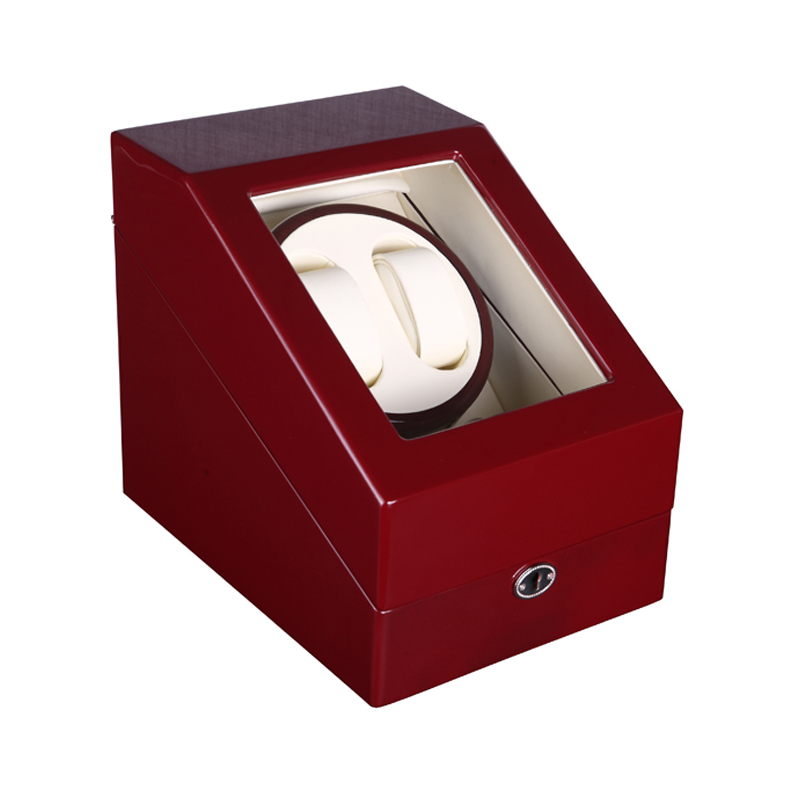 High Glossy Wooden Red Color 5 Modes Mechanical Watch Winder,Ultra-Silent Moter Automatic Watch Winder ultra luxury 2 3 5 modes german motor watch winder white color wooden black pu leater inside automatic watch winder