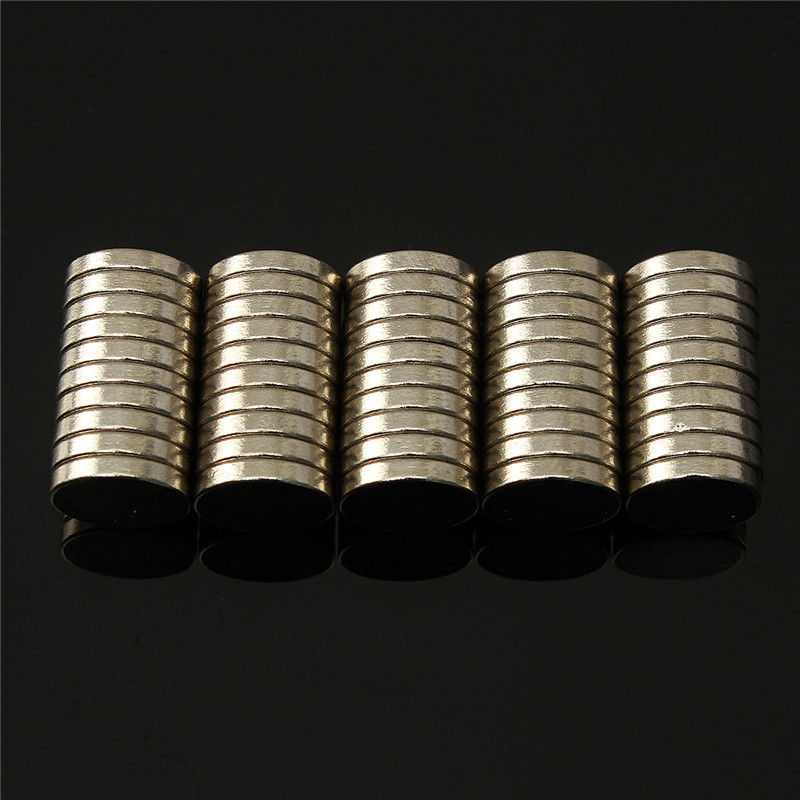 100pcs Dia 10mm x 2mm N35 Round Magnets Bulk NdFeB Neodymium Disc Rare Earth Magnets Powerful 10 x 2mm Magnet 3 x 4 8mm cylindrical ndfeb magnet silver 100pcs