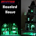 Luz led para arriba el kit para lego 10228 y lepin 16007 ciudad monster fighter haunted house modelo kit de construcción de juguete