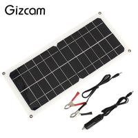 Solar Generator Travel 12V 10W Emergency Power Supply Portable Phone Charger Solar Panel Car Battery Chargiing