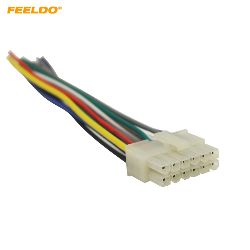Feeldo Universal 12pin Car Wire Harness Adapter Connector