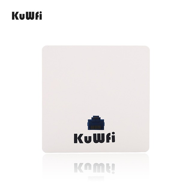 KuWFi 300mbps Wireless Router Indoor in wall Wireless Access Point  Wireless AP Router Support 20users