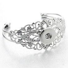 Imperial crown Bracelets for men metal snaps bangles alloy Bracelets fit 18MM snaps buttons font b