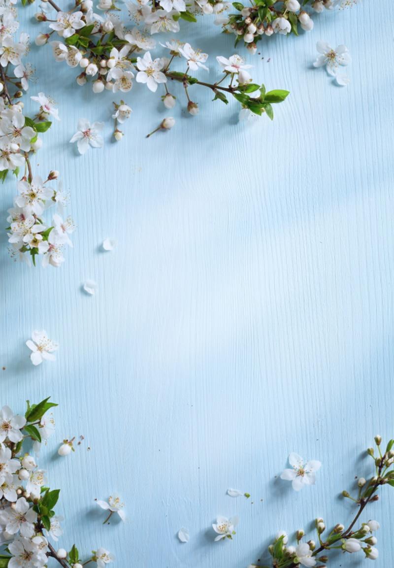 Verticale Luce Blu Fiore Di Primavera Fotografia Sfondo Per Il