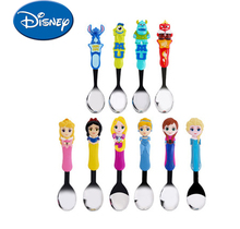 Disney  Kids Utensils Feeding Spoon Cute Light Stainless Steel Elsa Stitch Snow White Cartoon