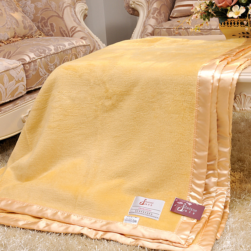 Silk Throw Blanket Textured Solid Soft for Sofa Couch Cozy Decorative Blanket 200cmx230cm
