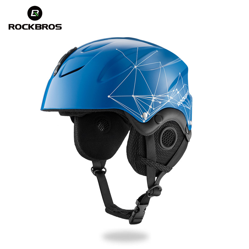 ROCKBROS Skiing Helmet EPS Integrally-molded Safety Ski Helmets Snow board Windproof Men Women Kid Thermal Skateboard Headgear pink ski helmets cover motorcycle skiing helmets best outdoor safety helmet for skiing snowboard skating adult men women