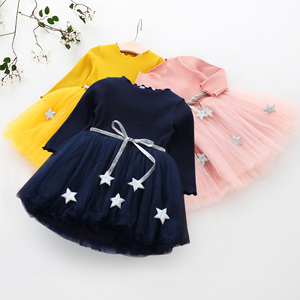 Baby Girls Dresses Autumn Long Sleeve Princess Dresses Toddler Kids 1 2 Years Birthday Party Vestidos Children Casual Clothing(China)