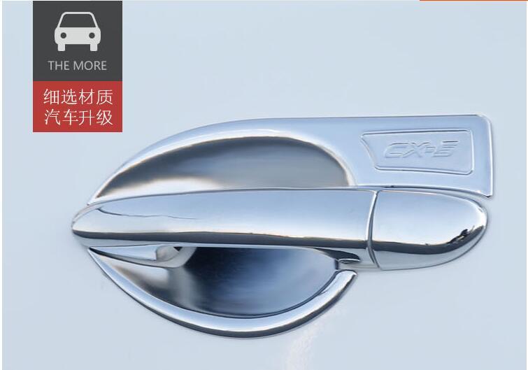 DIY ABS Chrome Car Door Handles Bowl font b Exterior b font Door Bowl Cover Trim