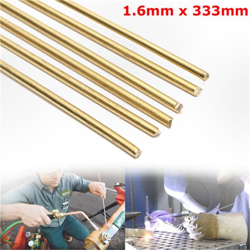 6pcs/set Brass HS221 Welding Solder Rods 1.6mm X 333mm Platinum Jewelry Welding Soldering Tools Brass Brazing Welder Rod