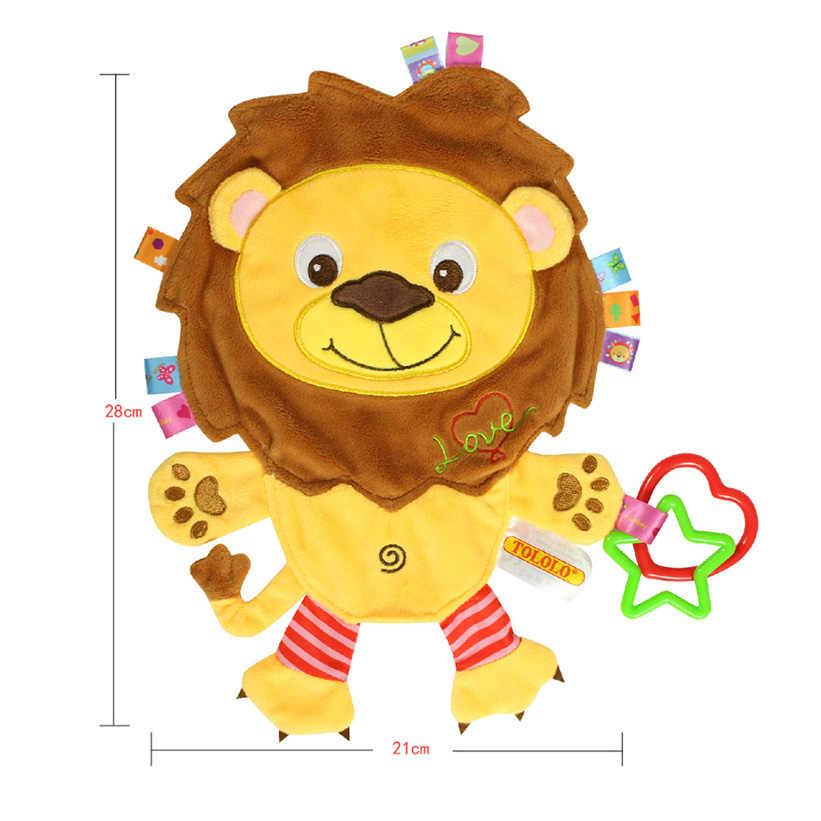 เด็กตุ๊กตาตุ๊กตา Plush Appease ผ้าขนหนูนุ่มวัวหมูสิงโตช้างของเล่นทารกหุ่นยางแหวนของเล่นเด็กของขวัญ