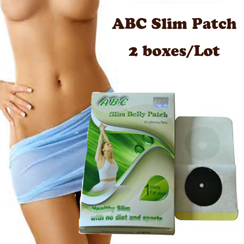 (2 kotak) ABC Slimming patch perut Slimming Navel Sticker Slim Patch Weight Loss Membakar lemak dengan cepat