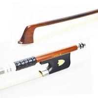 430M Pernambuco VIOLA BOW Ebony Frog with Shield Pattern Nickel Silver Mounted Natural White Horsehair Violin Parts Accessories