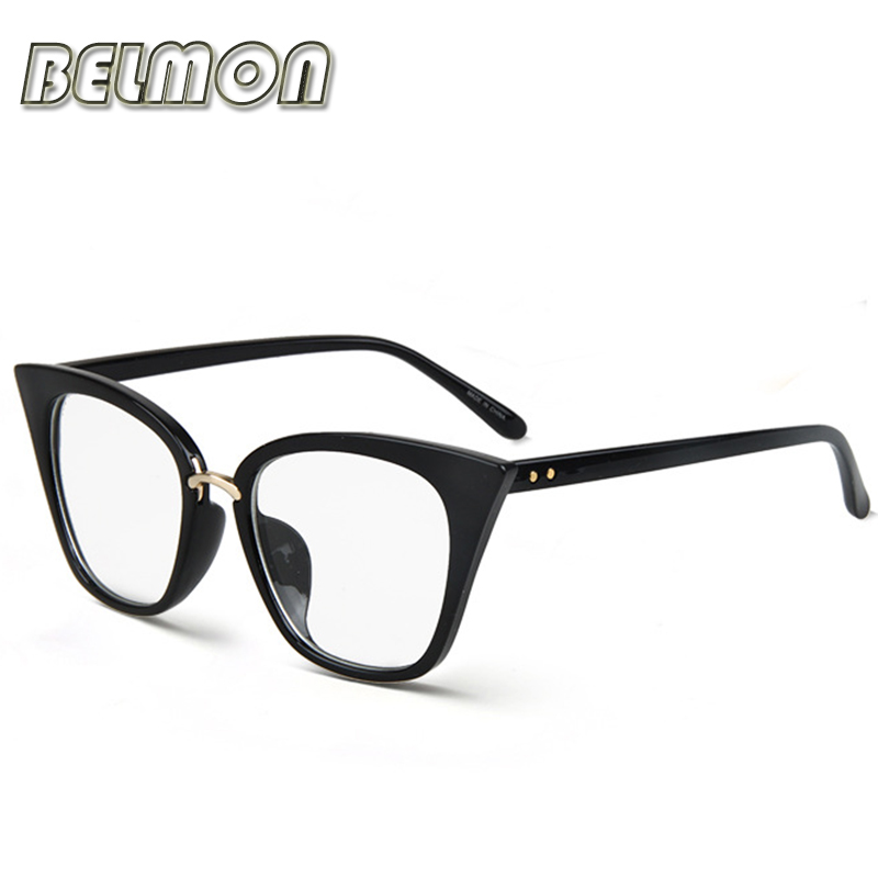 Eyeglasses Frame Women Computer Optical Vintage Eye Glasses For Women's Spectacle Transparent Clear Lens Armacao  de RS266