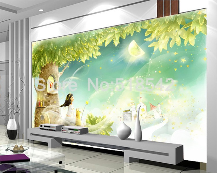 HTB13W7XKpXXXXXnXXXXq6xXFXXXM Custom Photo Wallpaper 3D Dream Cartoon Children Room Living Room Bedroom Home Decoration Wall Art Mural Wallpaper For Walls 3 D