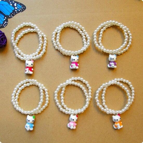 HappyKiss Wholesale -Kay sings Cats Childrens Christmas Santa baby bracelet beads bracelet pearl elastic line Kay crying cat