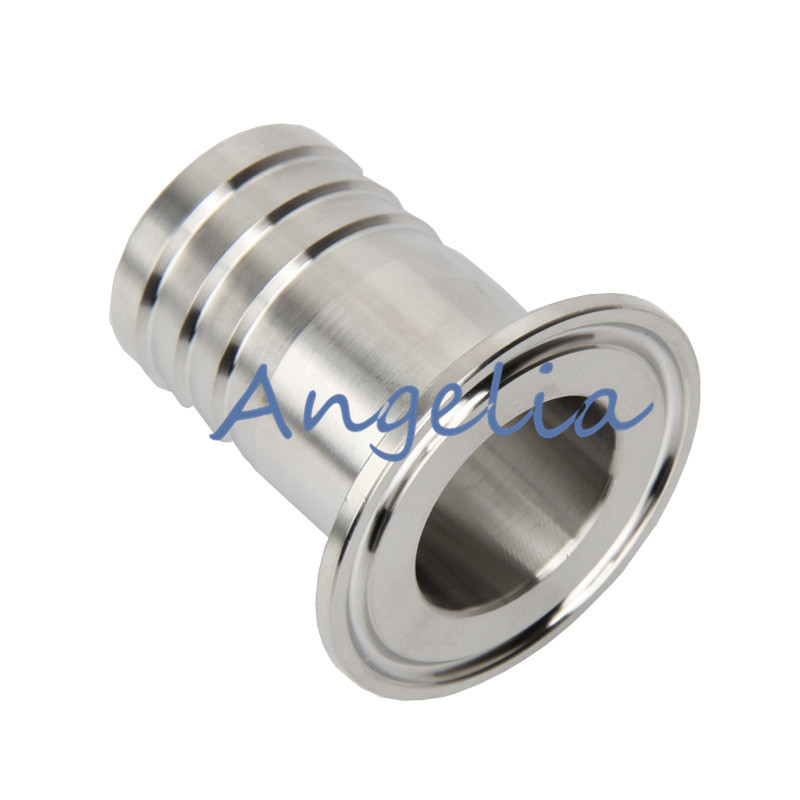 """32MM 1-1//4/"""" OD Sanitary Weld Pipe with 50.5MM Ferrule Flange Fits 1.5/"""" Tri Clamp"""