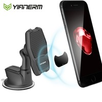 Yianerm Magnetic QI Wireless Charger Car Phone Holder 10W Fast Wireless Charging Stand For iPhone Xs Max 8 Plus Samsung Note 9