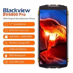 "Image 2 - Blackview BV6800 Pro โทรศัพท์มือถือ 5.7 ""สมาร์ทโฟน IP68 กันน้ำ MT6750T OCTA Core 4GB + 64GB 6580mAh แบตเตอรี่ไร้สาย NFC"