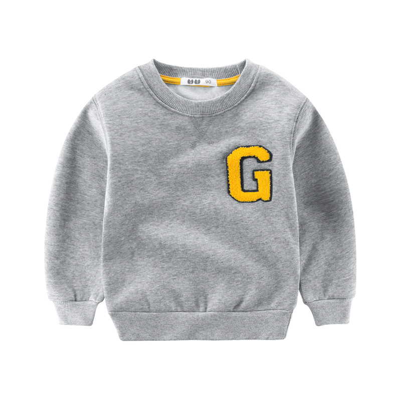 Winter Boys Sweatshirt Warm Kids Clothes Long Sleeve T-shirts Baby Boy Thick Hoodies Sweatshirts 2-10T Childrens Clothing