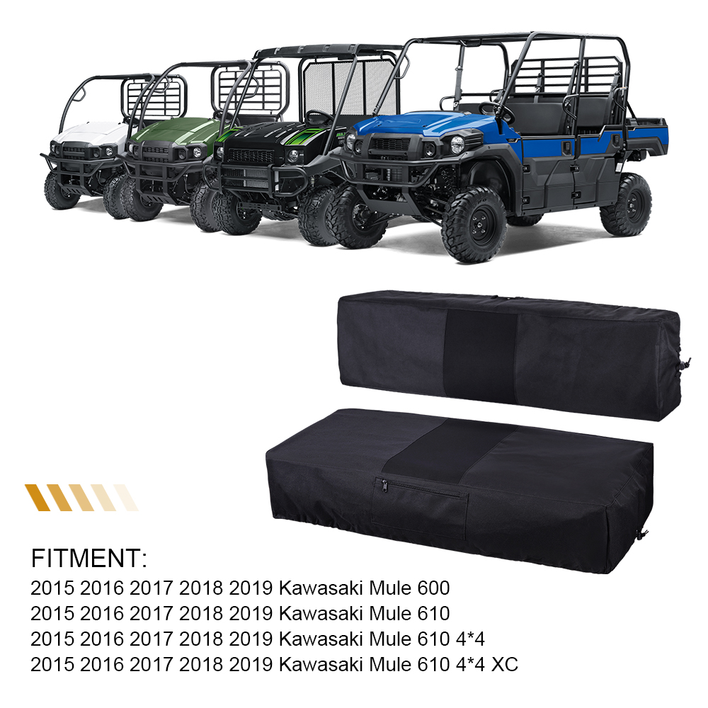 Surprising Kemimoto Utv Full Bench Seat Cover Set 600D For Kawasaki Pdpeps Interior Chair Design Pdpepsorg