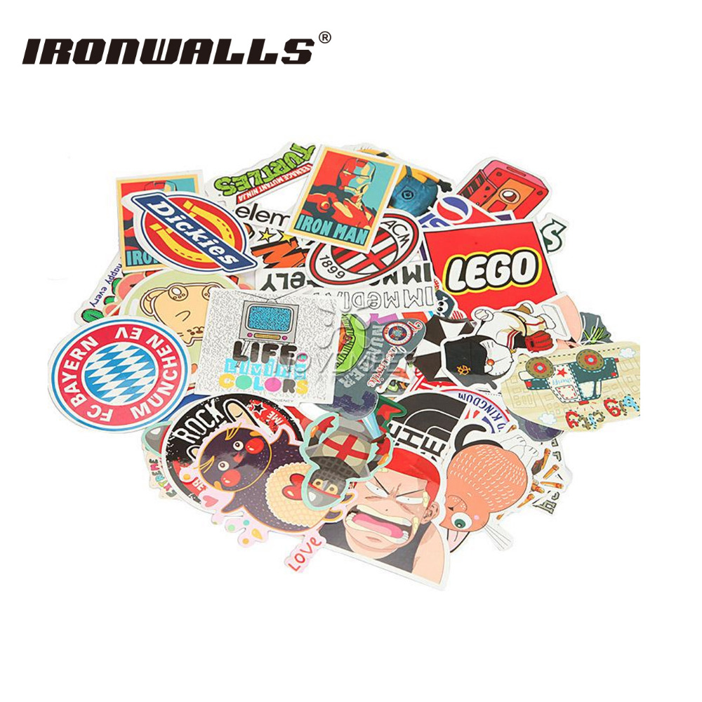 Ironwalls 50pcs DIY Vinyl Car Auto Motorcycle mixed Decal Stickers Cover Cartoon toy Styling Skateboard Laptop Luggage Snowboard dad mom daugther son and pet dog funny car stickers family cartoon vinyl adhesive auto decal stickers