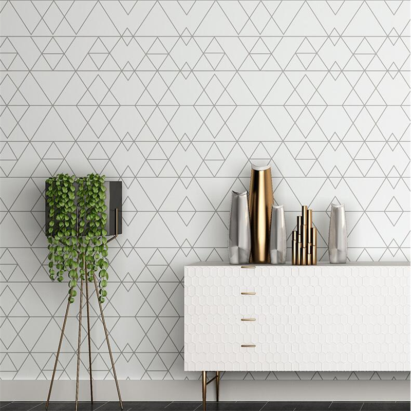 beibehang Personality diamond geometry wallpaper living room bedroom wallpaper minimalist modern Nordic lattice TV background