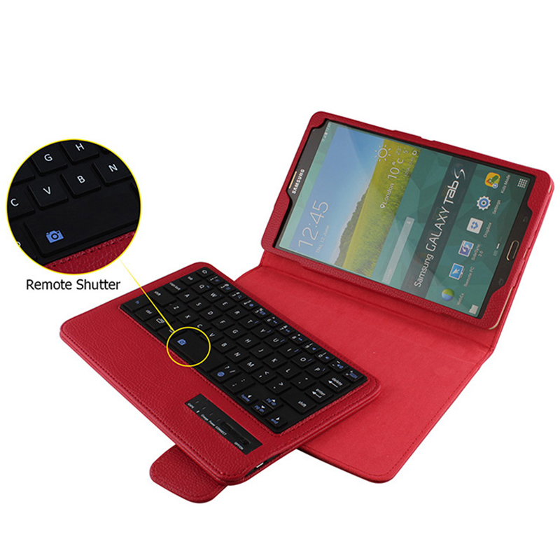 Wireless Bluetooth Keyboard +PU Leather Cover Protective Smart Case For Samsung Galaxy Tab S 8.4 T700 T705 + Gift