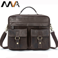 MVA Leather Laptop Bag for Men Men's Genuine Leather Bag Men's Shoulder Bag Male Messenger Crossbody Bags Men Briefcase Tote 801