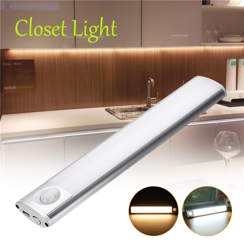 Us 14 27 49 Off Claitte Led Closet Light 33 Led Rechargeable Motion Sensor Light For Kitchen Cabinet Stairs Wardrobe In Energy Saving Fluorescent