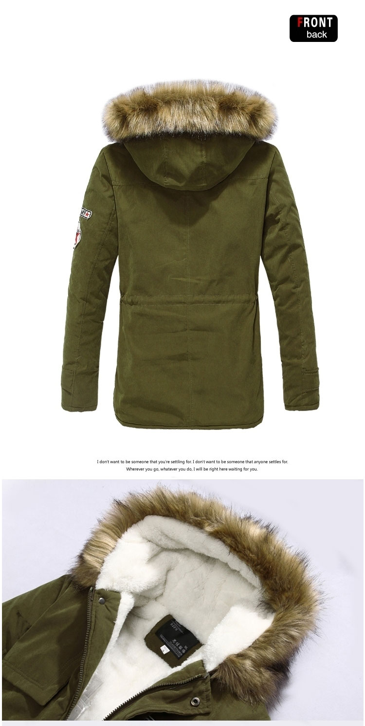 4d6ab67e244 Winter Jacket Men Fashion Fur Hooded Down Coat Zipper Slim Parka Thick  Outwear Warm Top Brand Clothing Casual Men  s Coat S-4XL