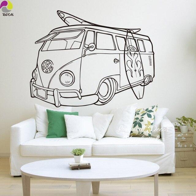 Volkswagen Surf Vans Wandaufkleber Sofa Schlafzimmer Baby ...