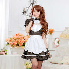 JiaHuiGe Women Sexy Lingerie Maid Uniform Dress Sexy Temptation Lady Hot Erotic Sexy French Maid Lingerie Costume Maid Outfit
