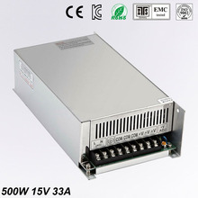 High Quality LED switching power supply dc 15V power supplies 33A 500W transformer 110V 240V ac to dc smps for led display light