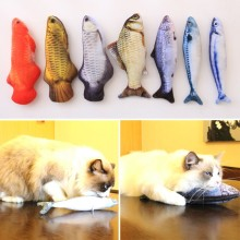 7 Style Catnip Toys for Cat Simulation Fish Pet Kitten Cushion Grass Bite Chew Funny Scratch Pillow 30cm Pet's Padded Toy ~