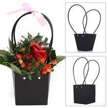 Красивая бумажная коробка банга для удобной подарочной сумки Рождество для флориста Удобная Цветочная сумка Свадебные розовые вечерние для торт из конфет День рождения