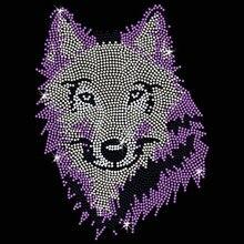 2 шт./лот животное горный хрусталь аппликация, горячая фиксация горный хрусталь термонаклейки кристалл передачи дизайн рубашка сумка