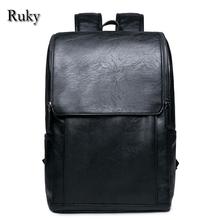 2016 Hot Sell Leisure High Quality Men Business Backpacks Fashion High Grade PU Leather Designer Men's Schoolbag Travel Bag