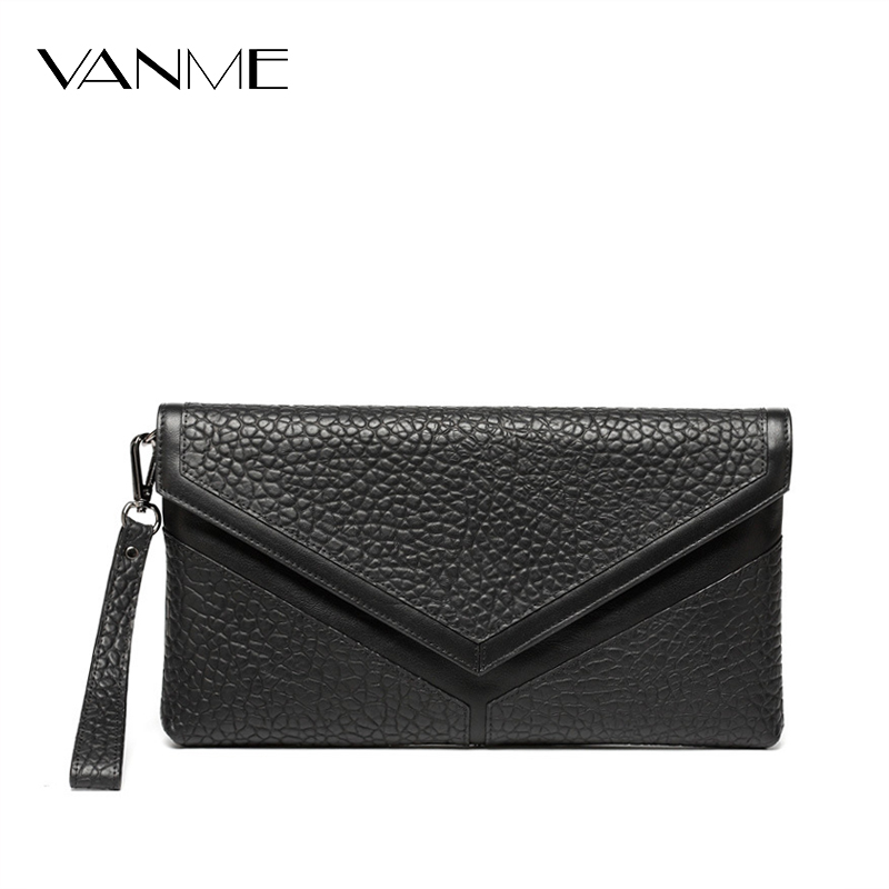 Hand Bag Chain Messenger Bag Top Grade European and American Style First Layer Leather Clutches Female Big Envelope Bag Package